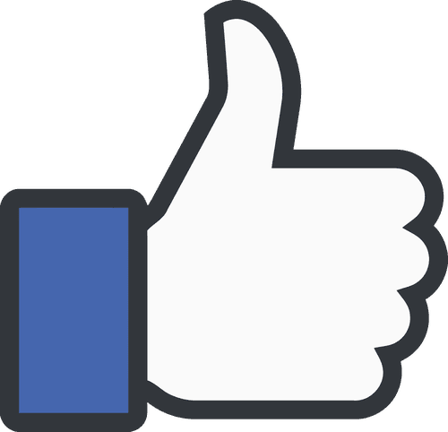 "The iconic Facebook ""thumbs up"""