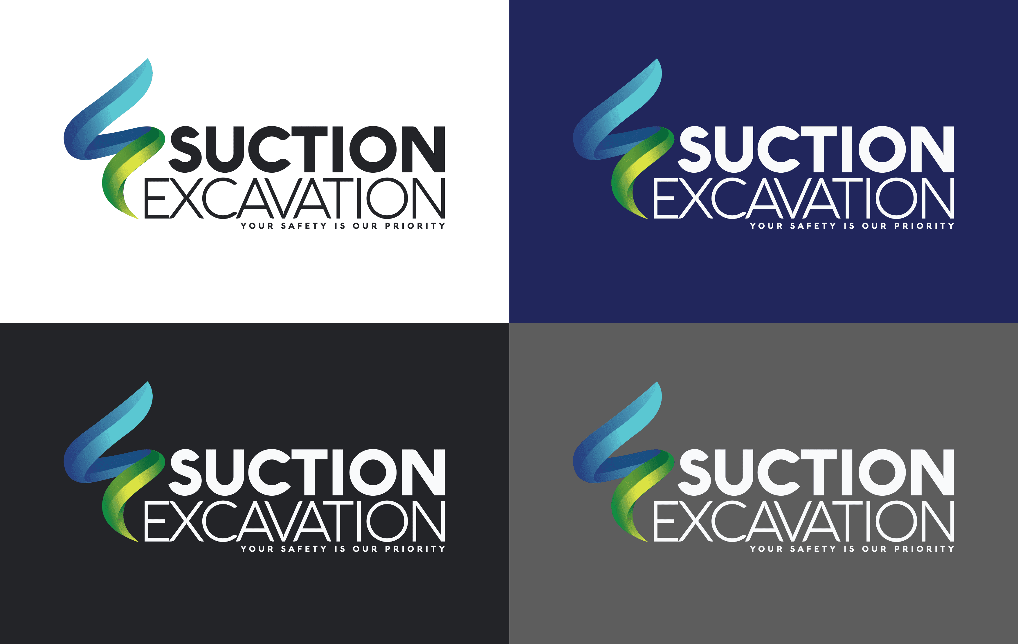 Suction Excavation logo 4-way